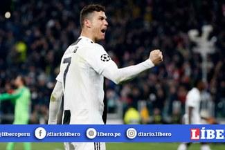 Cristiano Ronaldo y el peculiar look que lució en la Champions League [VIDEO]