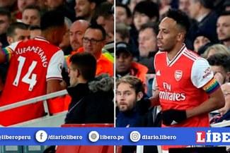 ¡Insólito! Aubameyang se va del partido cuando el Arsenal perdía para ¿Ir al baño?