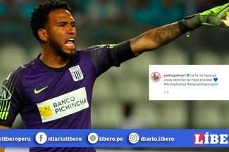 Alianza Lima vs. Binacional: Pedro Gallese y su emotivo mensaje previo a la final de la Liga 1