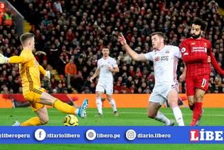 Liverpool vs Sheffield EN VIVO: Salah anota el 1-0 con una exquisita definición [VIDEO]