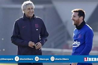 Lionel Messi expresa molestia a Quique Setién por despido de Ernesto Valverde ¿Problemas? [VIDEO]