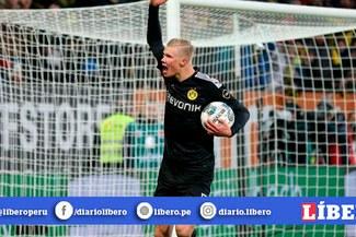 Haaland se estrena con un espectacular triplete y le da la victoria al Borussia Dortmud [VIDEO]