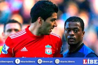 Liverpool pidió disculpas a Patrice Evra después de 9 años por insulto de Luis Suárez
