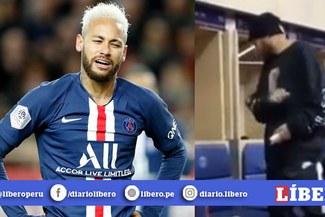 """Neymar Jr encuentra """"serpiente"""" en vestuario de PSG y su reacción se vuelve viral [VIDEO]"""