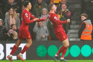 Liverpool sigue reinando en la Premier League tras vencer 2-1 a Wolverhampton [VIDEO GOLES]