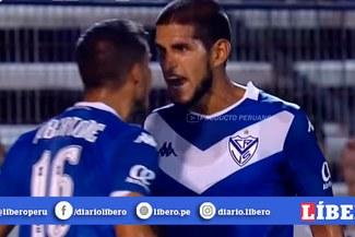 Como nunca lo vimos: Luis Abram y la intensa 'guapeada' a compañero en el Vélez-Gimnasia