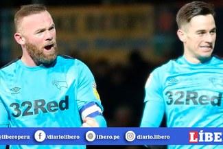 Wayne Rooney anotó su primer gol como jugador-entrenador, en su regreso a Inglaterra [VIDEO]