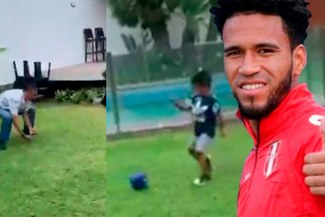 Hijo de Pedro Gallese le pega fuerte al balón y anota golazo de huachita [VIDEO]