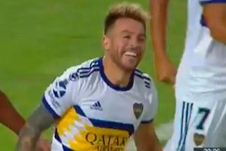 Buffarini y el sablazo para el 1-0 de Boca vs. Godoy Cruz por la Copa de la Superliga
