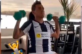 Christan Cueva no se olvida de Alianza y entrena usando la 'blanquiazul' en cuarentena [VIDEO]