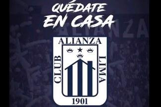 Alianza Lima modificó su escudo para concientizar al Perú a quedarse en su casa