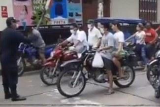 Policía llora de impotencia al ver como las personas no respetan la cuarentena