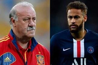 """Vicente del Bosque duro con Neymar: """"No es un buen ejemplo"""""""