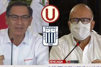 Ministro de Salud agradece a Alianza Lima por donativo y Martín Vizcarra tiene inesperada reacción