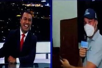 """George Forsyth recibió irónica despedida en enlace en vivo: """"Abrazo crema, alcalde"""" [VIDEO]"""