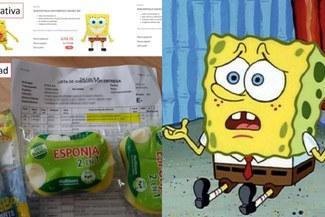 Pidió juguete de Bob Esponja por Internet y le llegó esponjas para lavar platos [FOTOS]