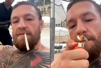Conor McGregor prendió cigarro de marihuana tras responderle a Sergio Ramos en Instagram [VIDEO]
