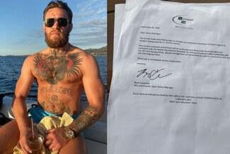 """Conor McGregor es sorprendido en su yate para control antidoping: """"Estoy retidado"""""""