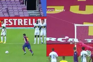 ¡Increíble! Atajadón a un tiro libre espléndido de Lionel Messi [VIDEO]