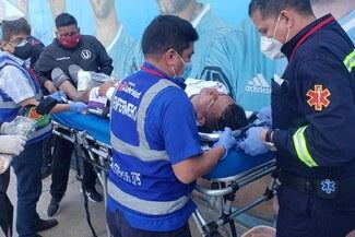 Diego Chávez fue trasladado a una clínica tras golpe con Benincasa [FOTO]