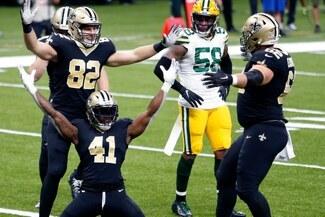 Saints - Packers en vivo vía ESPN 3 streaming: marcador en directo [27:27] por la NFL 2020