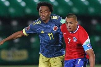 Chile dejó escapar la victoria tras igualar 2-2 ante Colombia
