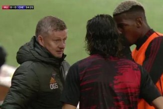 Edinson Cavani encontró en Paul Pogba traductor para la Premier League