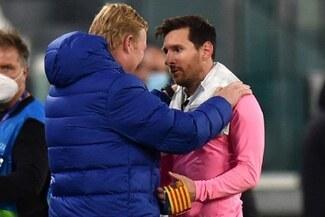 Koeman contó lo que le dijo Messi tras el abrazo entre ambos