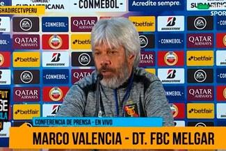 "Marco Valencia, DT de Melgar: ""Vamos a Bahía a tratar de ser protagonistas"""