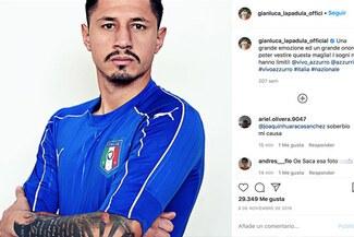 Peruanos le piden a Lapadula que borre su foto con camiseta de Italia