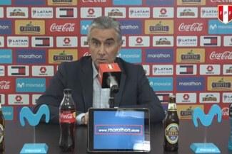 """Juan Carlos Oblitas: """"No olvidemos como empezamos la eliminatoria pasada, fue muy similar y salimos adelante"""""""