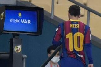 Lionel Messi y la sanción que recibiría tras su expulsión por agresión en la Supercopa de España