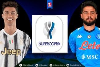 ⦿ Juventus – Napoli en vivo, ver DirecTV: con Cristiano Ronaldo, 0-0 por Supercopa de Italia