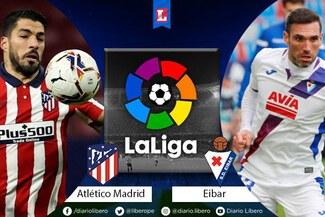 Atlético de Madrid vs Eibar EN VIVO: por la fecha 19 de LaLiga