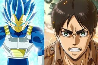 Dragon Ball vs. Shingeki no Kyojin: mira el crossver que enfrenta a Eren y Vegeta - VIDEO