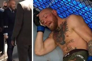 ¡En muletas! Así se retiró McGregor del UFC Fight Island tras perder con Poirier- VIDEO