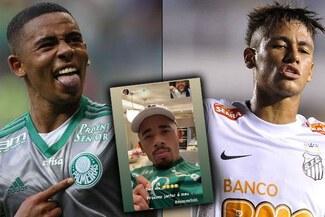 Gabriel Jesus se burló de Neymar tras el título de Palmeiras en la Libertadores - FOTO