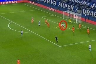 Juventus vs. Porto: Moussa Marega sorprendió a la defensa y anotó el 2-0 - VIDEO