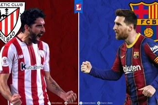 Barcelona vs. Athletic Club en vivo, online, en directo y gratis: 1T 0-0 final de Copa del Rey