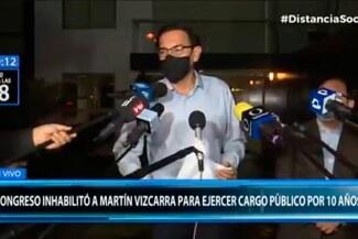 """Martín Vizcarra confía que inhabilitación """"se va a revertir"""": """"Este Congreso está deslegitimado"""""""