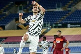 Edinson Cavani anotó doblete en Europa League ante Roma y reconfirma gran momento - VIDEO