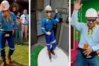 'Ingeniero Bailarín' ya tiene su muñeco de torta y se vuelve viral en redes sociales