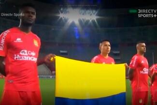 ¡Con ustedes, Colombia!  Sport Huancayo tuvo sentido gesto en el juego ante Corinthians - VIDEO
