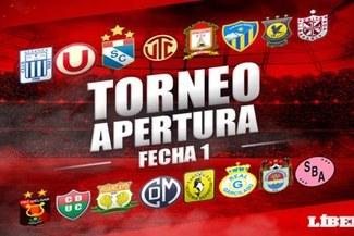 Torneo Apertura: tabla de posiciones tras la fecha 1