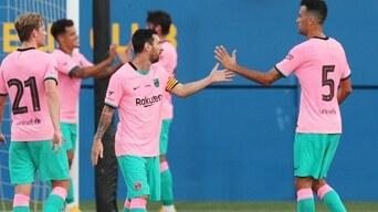 Barcelona Vs Girona Goles 3 1 Lionel Messi Coutinho Partido Amistosos Resumen Libero Pe