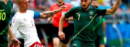 Dinamarca empató 1-1 con Australia por el Grupo C del Mundial