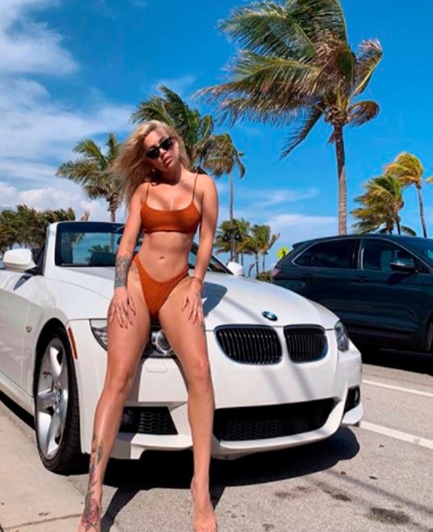 Leslie Shaw se divierte en las hermosas playas de Miami [FOTOS]