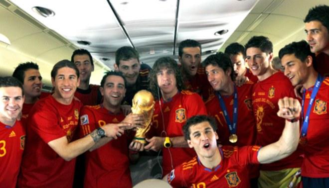 Mire cómo fue recibida la selección de España en Madrid