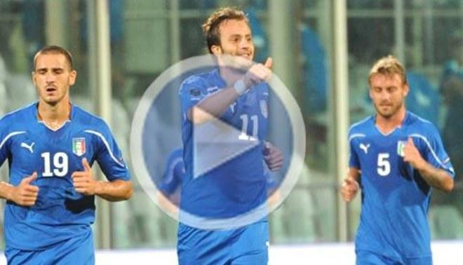 La Italia de Prandelli venció 5-0 al modesto Islas Feroe