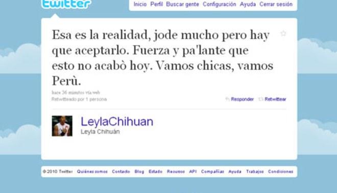 """Leyla Chihuan: """"Esto no se acabó hoy...vamos Perú"""""""